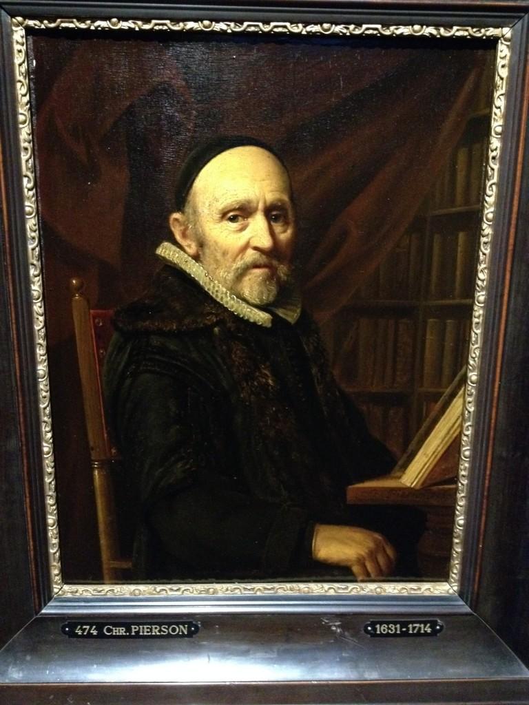 Portret van Joris Goethals (1584/86-1670), predikant te Blaricum en Hoorn, 1667. Geschilderd door de Goudse kunstenaar Christoffel Pierson