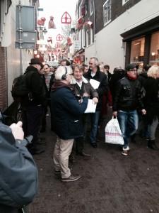 Sinterklaas aan het droogoefenen op de dag voor de intocht in de Korte Groenendaal