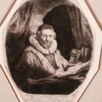 Joannes Wtenbogaert. Ets van Rembrandt te zien in Gouda