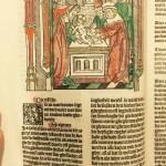 Houtsnede uit Leeu's Tboeck van den leven ons Heeren Jesu Christi (Antwerpen 1487)
