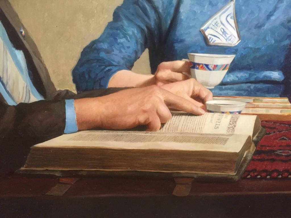 Detail van schilderij Reinout Krajenbrink met bovenstaand boek