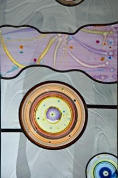 Detail van het nieuw te plaatsen glas van Marc Mulders