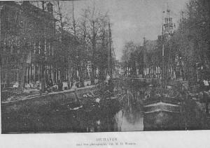 Foto van de Haven uit de Gids van Gouda uit 1894
