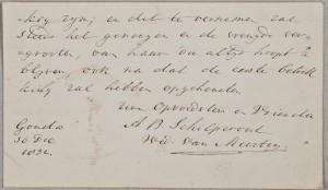 Handschrift van Anna Barbara uit een Album Amicorum voor een vriendin