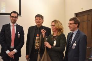 De vier gastconservatoren van de tentoonstelling Uitgelezen, Maurice wery, Paul Abels, Peter Luycx en Jan Willem Klein