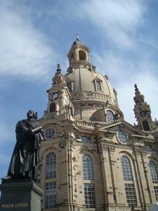 Standbeeld van Luther in Dresden