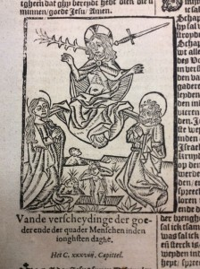 De prent van het Laatste oordeel in de editie van Van Ghelen uit 1618