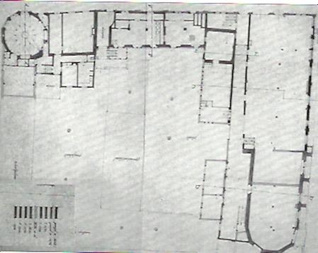 Plattegrond van het Collatiehuis, in 1940 opgemeten door de Rijksdienst voor Monumentenzorg