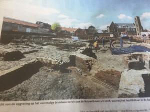 Opgravingen op het terrein van de voormalige Brandweerkazerne, waar het klooster van de Clarissen ooit stond