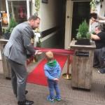 Opening van de Looierspoort door burgemeester Schoenmakers
