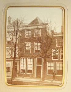 Oudste foto van het woonhuis van Büchner, door zijn dochter gezonden naar familie in Hessen.