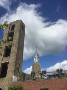 Toren van voormalige Brandweerkazerne aan de Nieuwehaven, een van de gedempte grachten