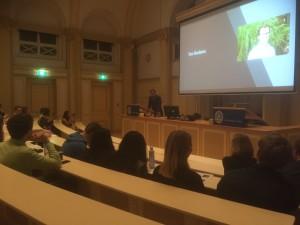 Met Ton Siedsma van Bits of Freedom voor Studentenvereniging Lipsius in Leiden